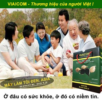 đâu có sức khỏe asia - Tỏi Đen Cô Đơn Sạch Xuất khẩu VIAICOM (500gram)