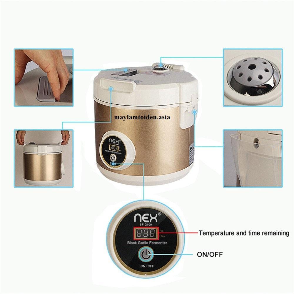 Nex® là chiếc máy làm tỏi đen hiện đại