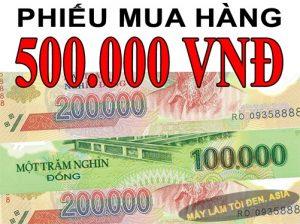 Tặng phiếu mua hàng 500k