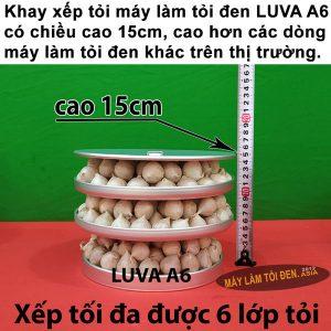 khay LUVA A6 có thước 600x600 asia 300x300 - Máy Làm Tỏi Đen LUVA A6 CN NHẬT BẢN (Cao Cấp - Mới)