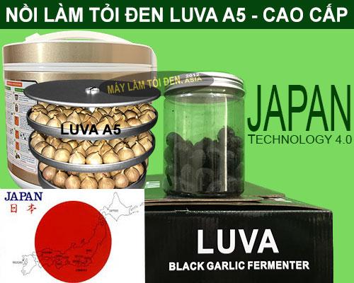 Khay và lọ tỏi đen thành phẩm nồi làm tỏi đen LUVA A5