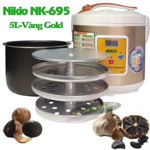 máy làm tỏi đen Nikio NK-695, xoong và giá xếp tỏi.
