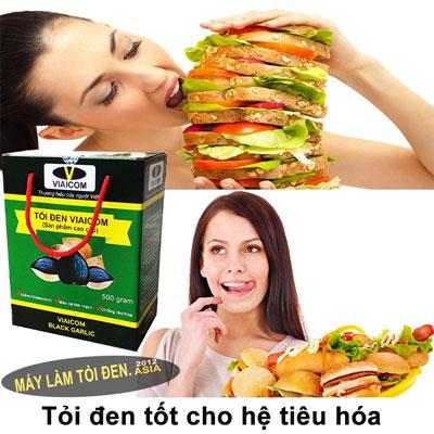 tỏi đen tốt cho hệ tiêu hóa - Tỏi Đen Cô Đơn Sạch Xuất khẩu VIAICOM (500gram)