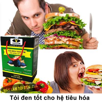 tiêu hóa - Tỏi Đen Cô Đơn Lý Sơn Thương Hiệu VIAICOM (500gram)