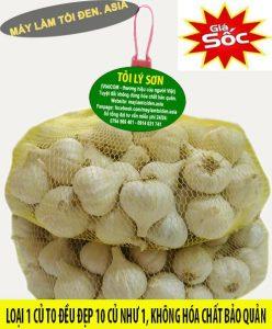 Hình Tỏi Lý Sơn (loại 1) đã được đăng ký bảo hộ thương hiệu tại Việt Nam