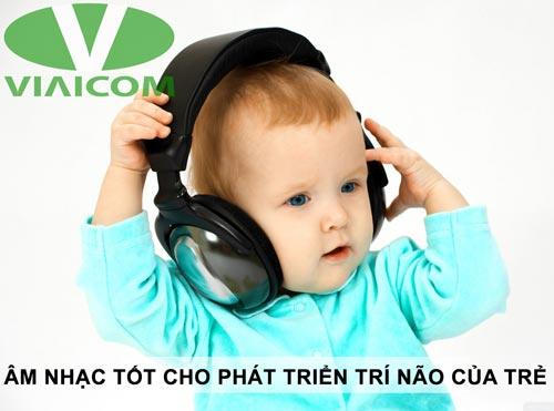âm nhạc tốt cho phát triển trí não trẻ