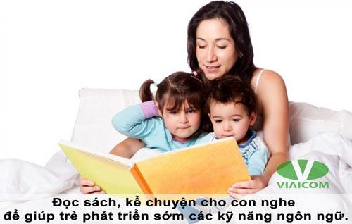 Đọc sách, kể chuyện giúp trẻ phát triển kỹ năng