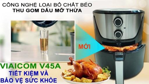 Cách nướng gà tre bằng nồi chiên không dầu Viaicom V45A - Cách nướng gà tre bằng nồi chiên không dầu Viaicom V45A