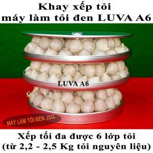 Khay xếp tỏi máy làm tỏi đen LUVA xếp 6 lớp tỏi