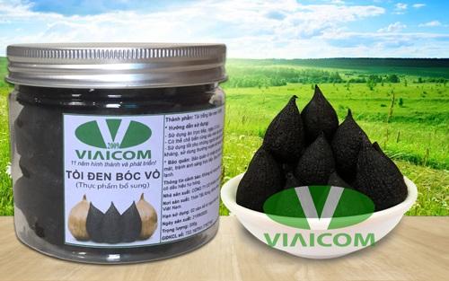 Lọ tỏi đen cô đơn bóc vỏ VIAICOM 200g Quà tặng từ thiên nhiên - Lọ tỏi đen cô đơn bóc vỏ VIAICOM loại 1