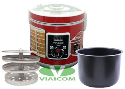 May lam toi den Tiross TS907 khay xoong - Top 10 máy và nồi làm tỏi đen gia đình tốt nhất được khách hàng bình chọn
