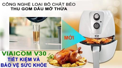 Nướng cả con gà bằng nồi chiên không dầu Viaicom V30 trong 15 phút đơn giản - Nướng cả con gà bằng nồi chiên không dầu Viaicom V30 trong 15 phút đơn giản