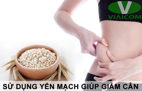 Sử dụng yến mạch giúp giảm cân