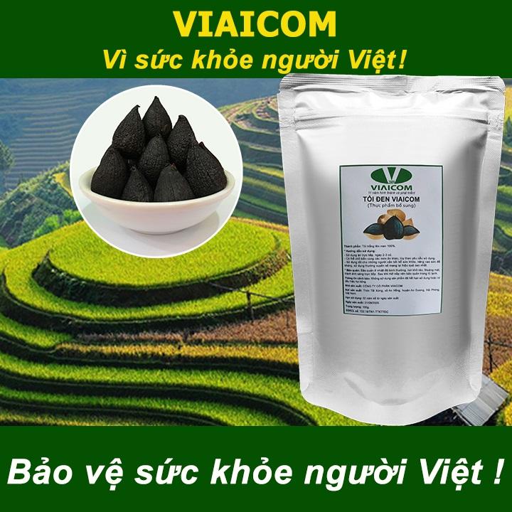 Túi tỏi đen VIAICOM 100g Bảo vệ sức khỏe người Việt - Tỏi đen cô đơn xuất khẩu VIAICOM - Túi 100gram
