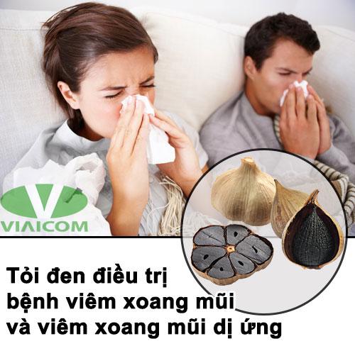 Tỏi đen trị viêm xoang mũi và viêm xoang mũi dị ứng