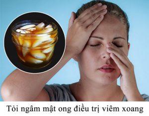 Tỏi ngâm mật ong điều trị viêm xoang