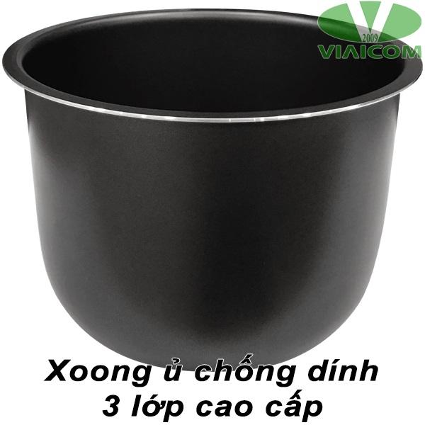 Xoong ủ chống dính 3 lớp cao cấp - Máy làm tỏi đen VIAICOM V6 - 6 lít - Công Nghệ Nhật Bản Mới Nhất