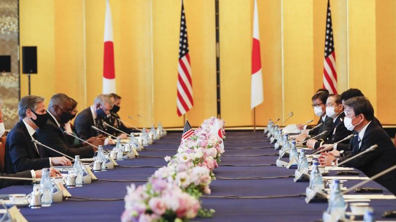 antony blinken lloyd austin japan tkjr - Mỹ, Nhật cảnh báo 'hành vi gây bất ổn' của Trung Quốc