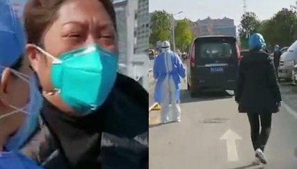 bac si liu vu han - Thương tâm vợ bác sĩ bệnh viện Vũ Hán khóc lóc chạy theo xe đưa thi thể chồng đi hỏa táng