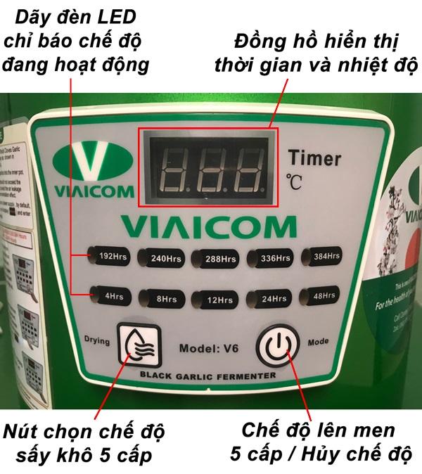 cấu tạo bảng dk - Máy làm tỏi đen VIAICOM V6 - 6 lít - Công Nghệ Nhật Bản Mới Nhất