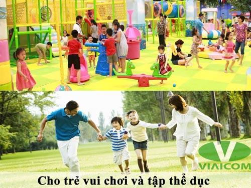 cho trẻ vui chơi và tập thể dục