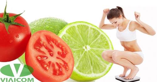 Giảm cân hiệu quả từ chanh và cà chua