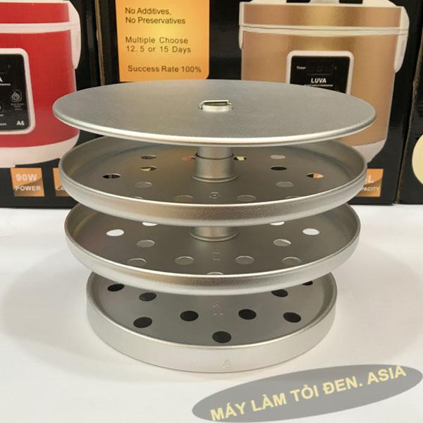 khay x%E1%BA%BFp t%E1%BB%8Fi 600x600 - Máy làm tỏi đen Luva A6 – 6 lít cao cấp (mới nhất)