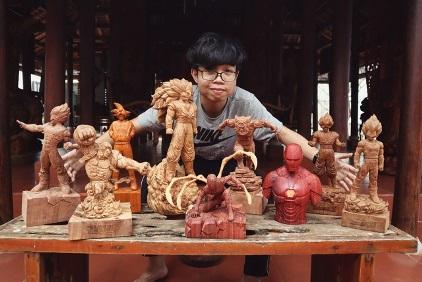 """mohinhgo 13 1588675838728 - Siêu nhân sinh ra từ gỗ: Khối """"vàng ròng"""" của 9x Quảng Nam"""