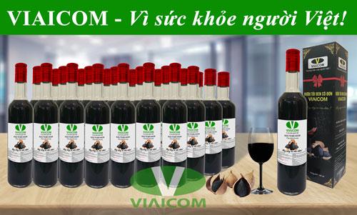 nhiều chai tỏi đen vì sức khỏe người việt - Rượu tỏi đen cô đơn VIAICOM