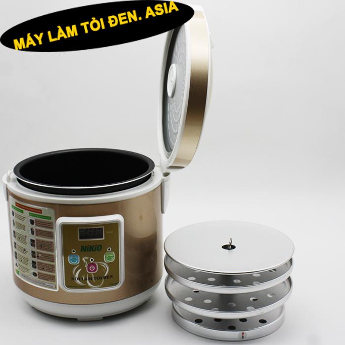 noi dien lam toi den 01 - Hướng dẫn cách làm tỏi đen tại nhà với nồi điện làm tỏi đen NIKIO NK-688