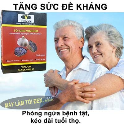 tăng sức đề kháng 1 - Tỏi Đen Cô Đơn Lý Sơn Thương Hiệu VIAICOM (500gram)