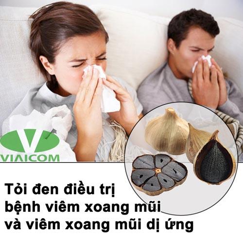 Tác dụng của tỏi đen với viêm xoang mũi
