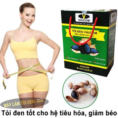 tỏi đen tốt cho hệ tiêu hóa 2 - Tỏi Đen Cô Đơn Lý Sơn Thương Hiệu VIAICOM (500gram)