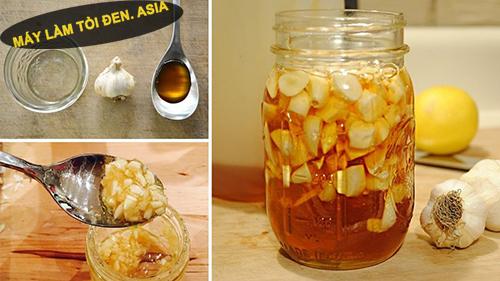 Tỏi thái khô có thể kết hợp với mật ong