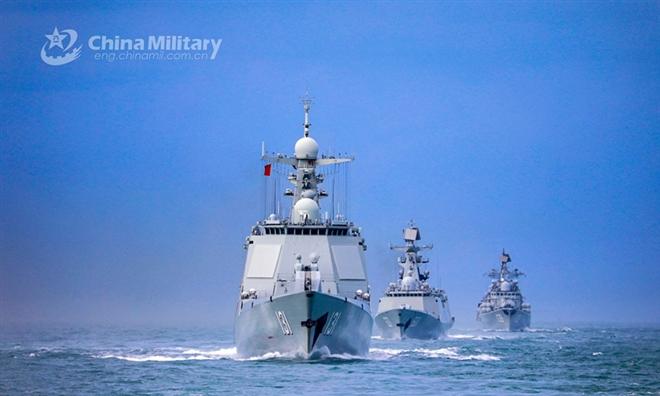 tau chien 09310941 - Trung Quốc vội vã tập trận trên biển trước khi Bộ tứ 'hội quân' ở Ấn Độ Dương