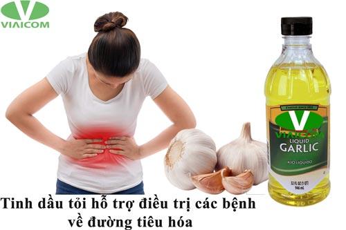 Tinh dầu tỏi hỗ trợ điều trị các bệnh đường tiêu hóa