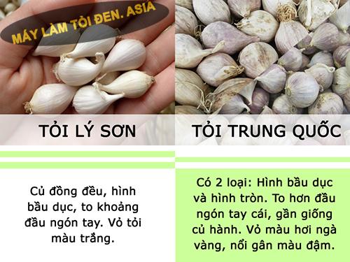 Phân biệt tỏi Trung Quốc và tỏi Việt Nam