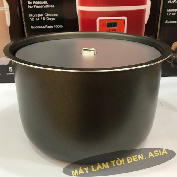 x%E1%BA%BFp khay v%C3%A0o xoong 600x600 1 - Nồi làm tỏi đen Luva A5 (mới)